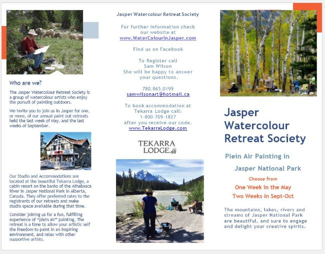 Jasper Watercolour Retreat Society Brochure 2020smaller